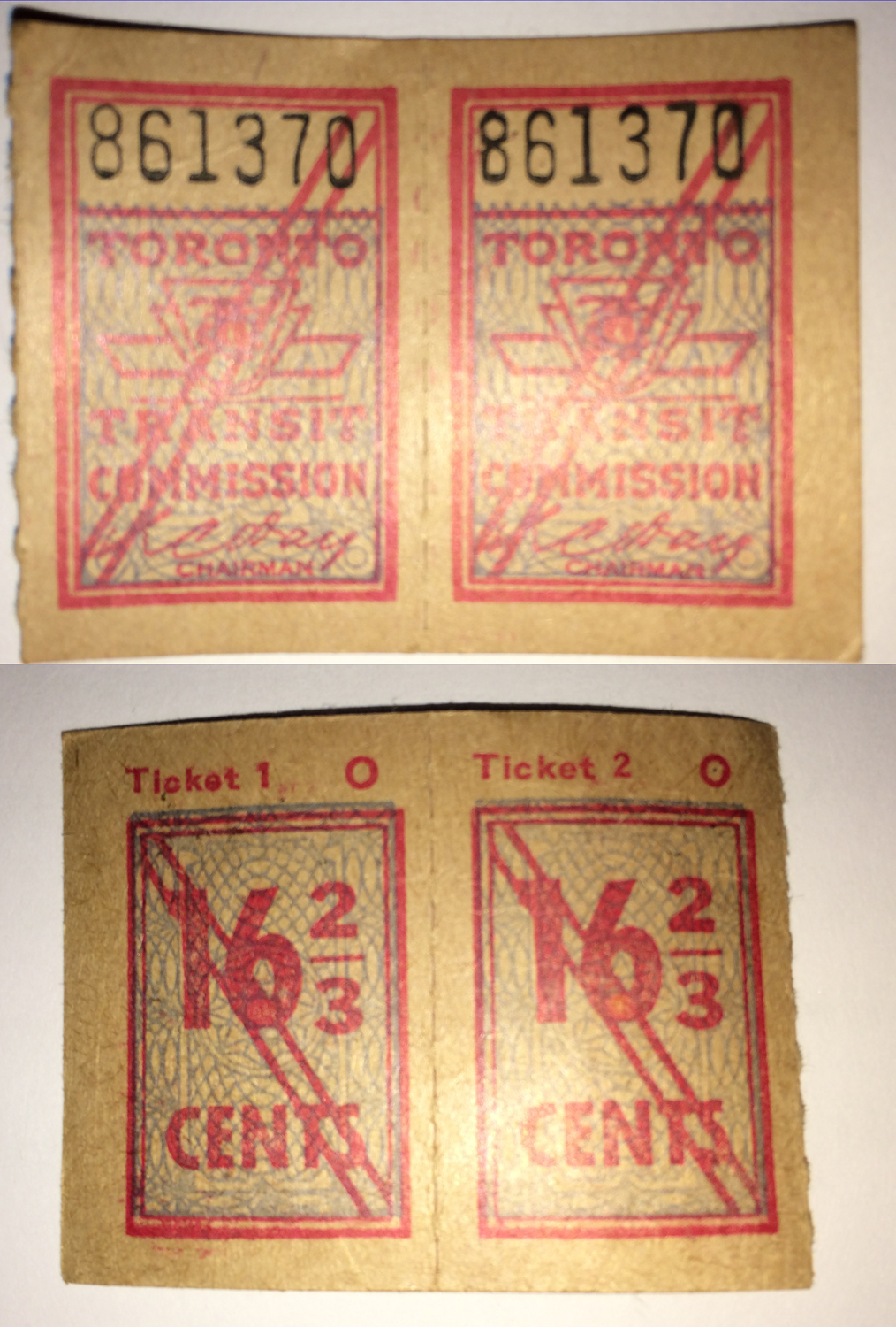 TTC Tickets found in Restored Century Piano