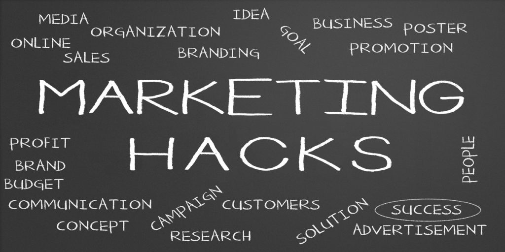 marketing hacks graphic