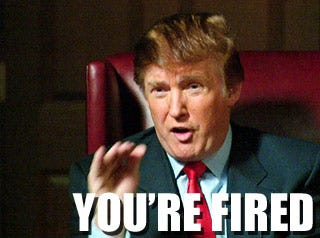 You're Fired Donald Trump photo